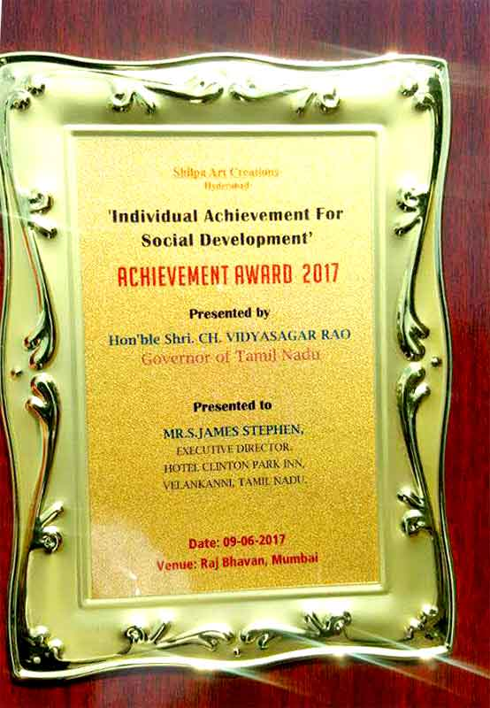 Individual Achievement Award-2017 for Scial Developement